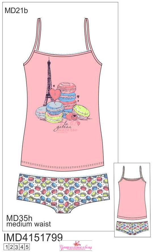Набор майка и шорты INNAMORE MACARON IMD4151799